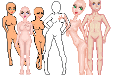 Bases for making pixel dolls